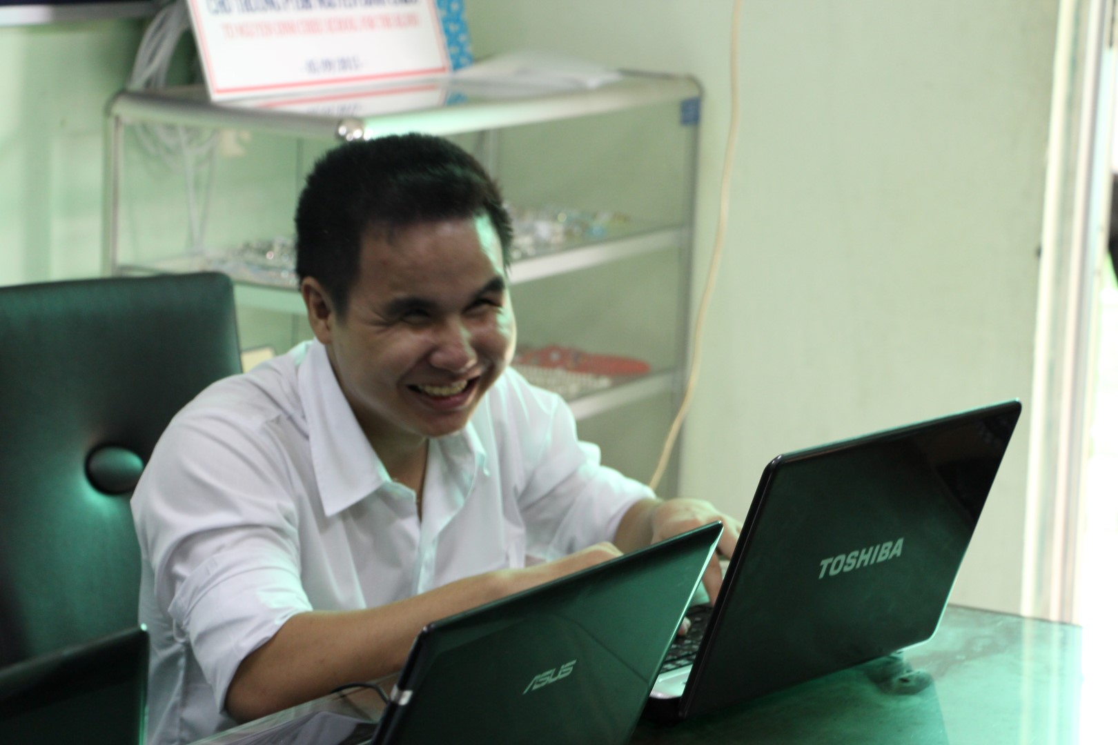 Laptops for blind children