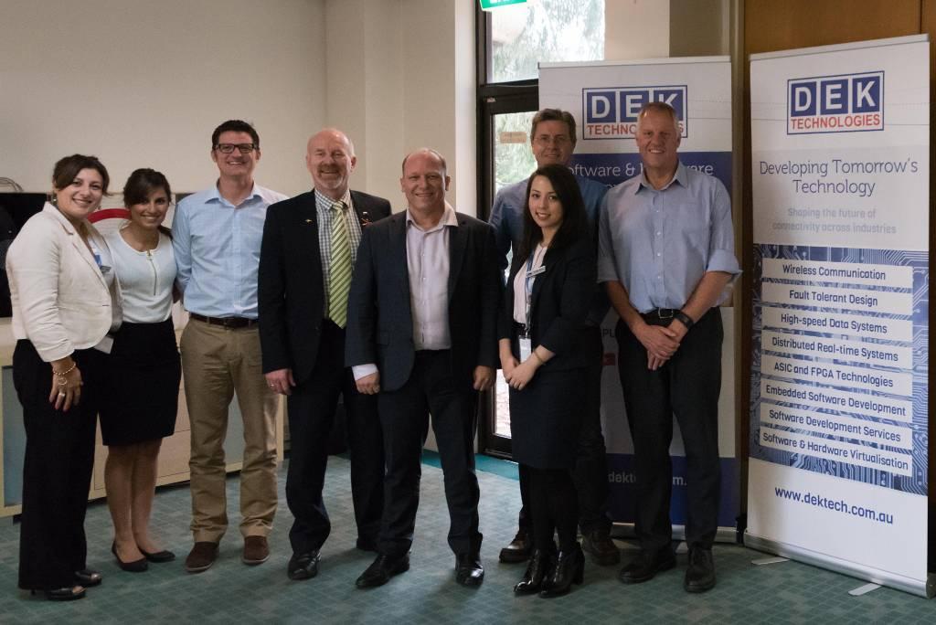 Mayor visits DEK Technologies