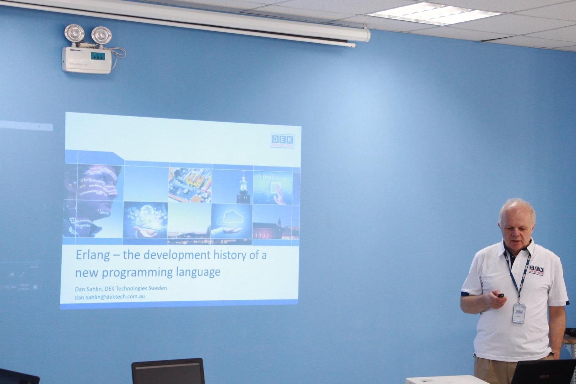 Erlang Seminar held at DEK Technologies